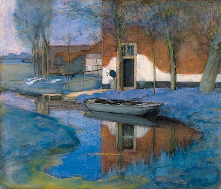 Piet Mondrian (1872–1944) - A Farmbuilding (1900-1901).