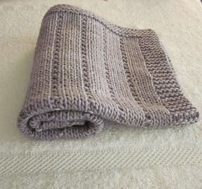Easy... Knit And Purl; This pattern is for a baby blanket but this would make a nice scarf pattern.