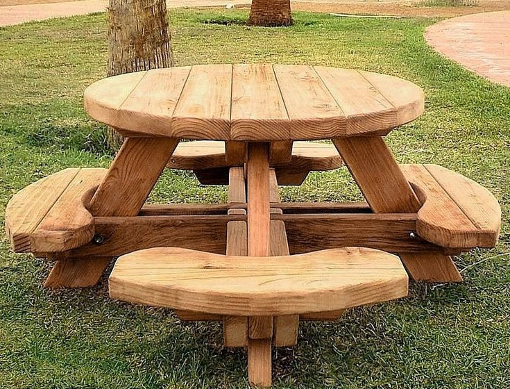 1000+ Ideas About Wooden Picnic Tables On Pinterest