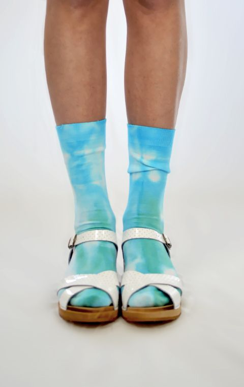 """""""Moonage Daydream"""" Tie Dye Socks are super comfortable, 100% cotton and made in Melbourne. @Ghostly"""