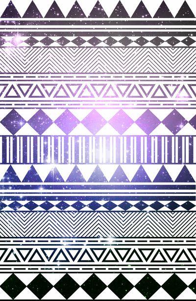 galaxy navajo tribal pattern Art Print by shans   Society6