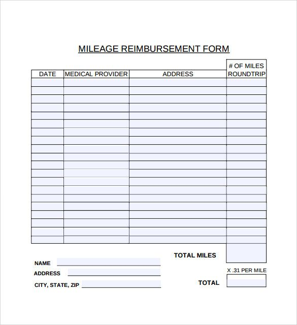 Mileage Reimbursement Form Template - An internet form template will - reimbursement sheet template