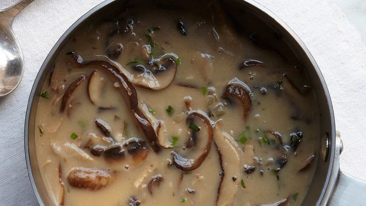 Mushroom and tarragon gravy - I cheated (to make this a lot quicker!) using ready-made Bisto gravy, diced mushrooms (using a  blender), dried tarragon and a little dried sage and a little creme fraiche. Yum!