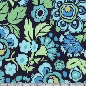 45'' Wide Amy Butler Daisy Chain Deco Rose Navy By The Yard