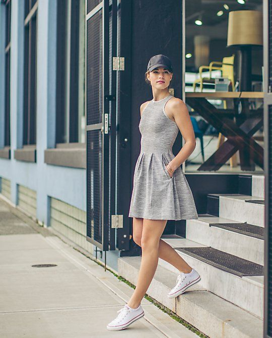 Lululemon Here To There Dress $198.00Commuter Denim Silver Spoon Slate/Soot Light ~