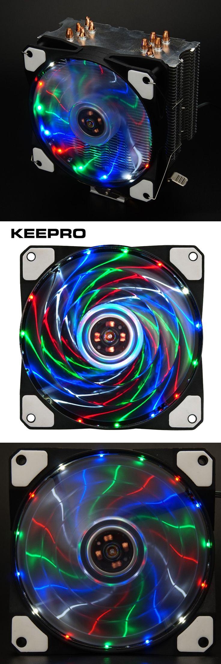 KEEPRO Original 15 Lights Silent Fan 3Pin/4Pin Cooler Fan Radiator 12V LED Light Heatsink Computer Case Fan Air Cooling 120mm
