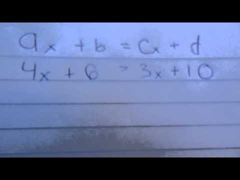 8o - Resolución de ecuaciones de primer grado de la forma ax + b = cx + d. - YouTube
