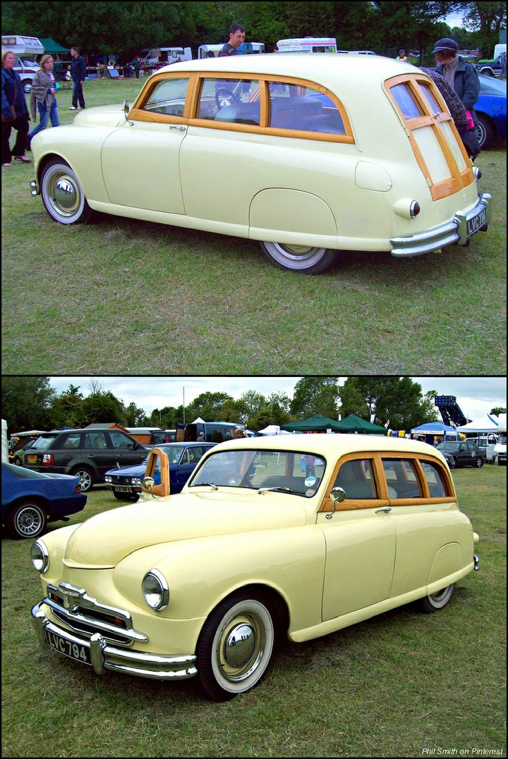 "This car started life as a 1948 Standard Vanguard Phase 1A Estate. The car here commonly referred to as a"" Woody"" was built in the 1990's from a Standard Vanguard Phase 1A Saloon. It is finished with bespoke American Ash. The engine is a Rover 3900cc V8 of 240bhp compared to the 62bhp of the original Standard. It has high compression pistons, quadruple SU carburettors and a Piper cam. It has Ford suspension and brakes, a Volvo rear axle and Borg Warner three speed automatic transmission."