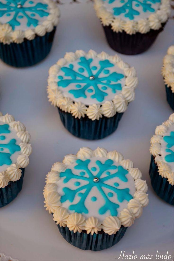 Cupcakes Frozen. Cumple de 5 años! #CupcakesFrozen
