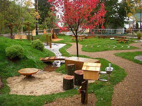 Backyard Playscape Designs playground design on a slope embankment net playline playground equipment Find This Pin And More On Playground Ideas