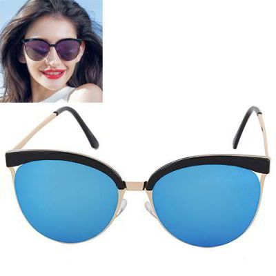 Cat Eye Shape Frame Decorated Simple Design Blue. Simple and must have it! REPIN if you love it.😍 Only 135 IDR
