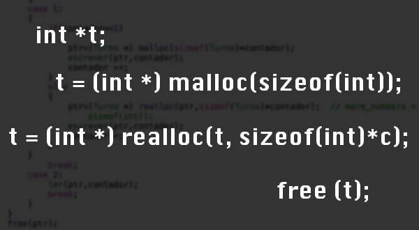 malloc and realloc functions in C / C++ - Out4Mind