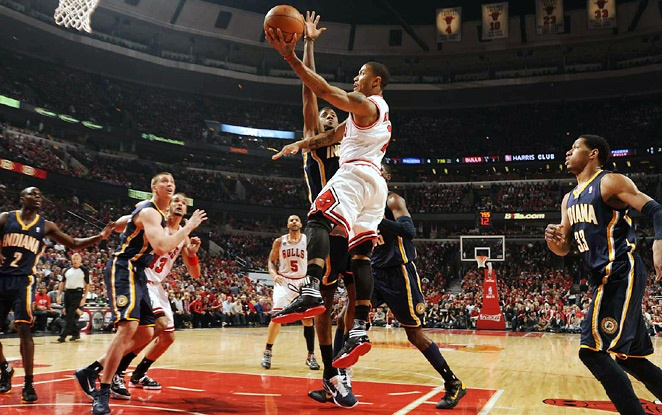 Derrick Rose, starting Point Guard for the Chicago Bulls and reigning NBA MVP: Chicago Bull, Derrick Rose