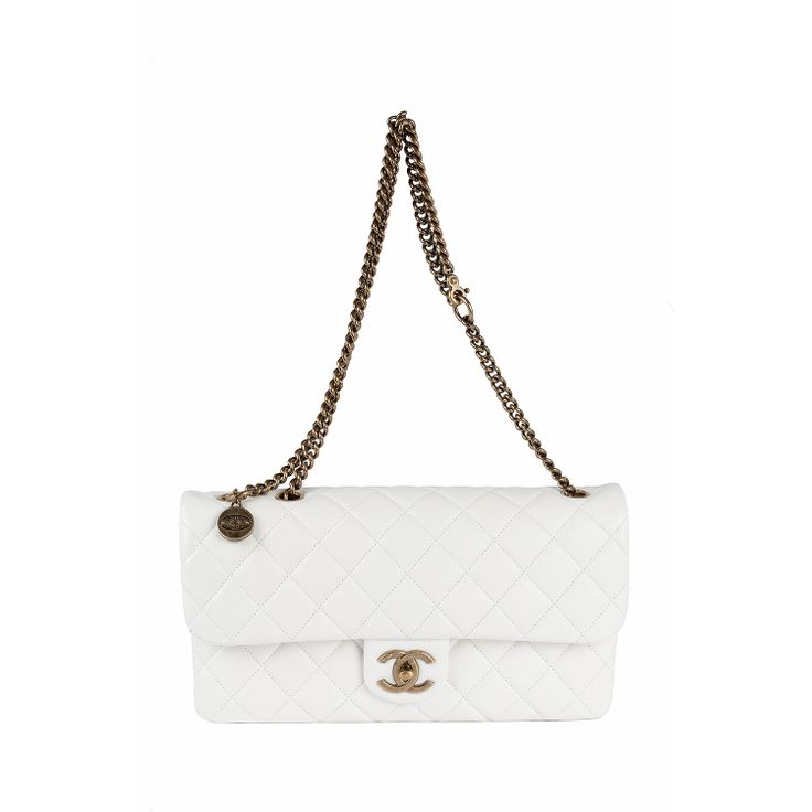 #Chanel  #Classic #Bag  #White