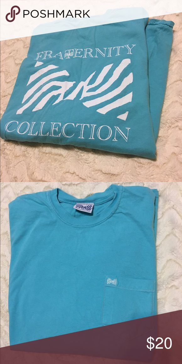 Fraternity Collection long sleeved t shirt Size XL long sleeved t shirt from Fraternity Collection! The color is more of a turquoise color than the color shown in the pictures! Worn a handful of times but still in good condition :) Fraternity Collection Tops Tees - Long Sleeve