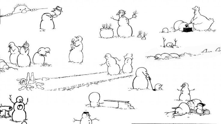 Calvin and Hobbes - Kalle och Hobbe Snowman cabinet.