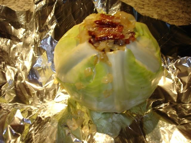 A must try - smoked cabbage - best way to make it! Hubby throws his on the smoker for a few hours and it's delish!!