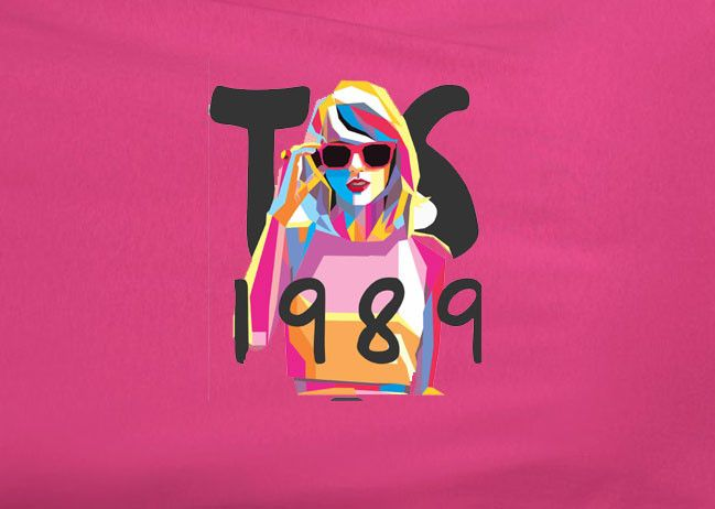 Taylor Swift Abstract Retro 1989 Heliconia Tee T-shirt