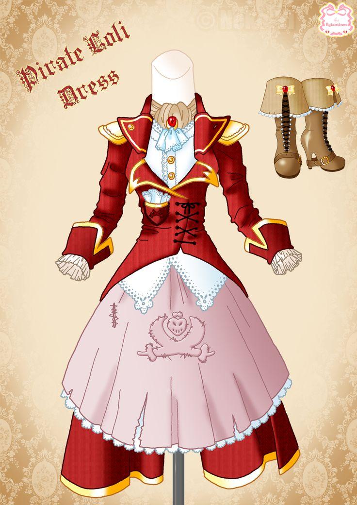 Corsair-Pirate Loli Dress by Neko-Vi.deviantart.com 8bfa915b5892
