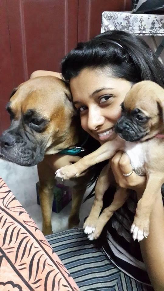 Priya Bhavani Shankar With her dog
