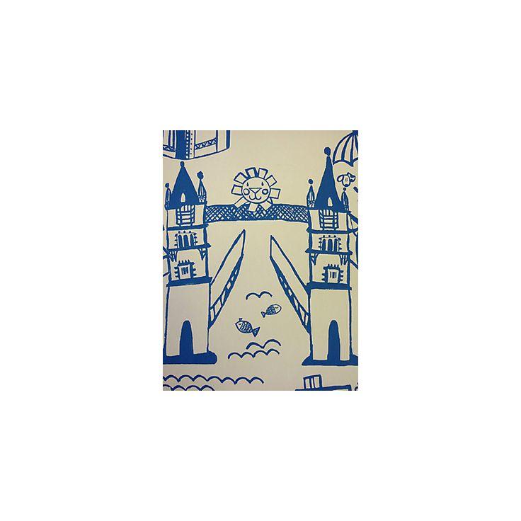 Buy Prestigious Textiles Panorama Cobalt Wallpaper | John Lewis