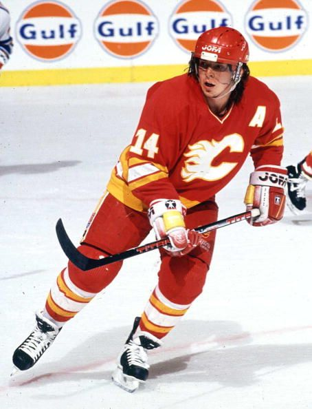 Theoren Fleury of the Calgary Flames