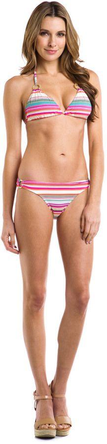 Helen Jon Cabo Fuchsia Stripe Ring Bottom