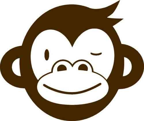 """Großes Affengesicht, braun, """"Sportsfreunde"""", Velours-Motiv zum Aufbügeln"""