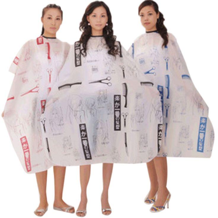 Dewasa Salon Hair Cut Hairdressing Tukang Cukur Cape Hairstylist Nylon Gown Tahan Air Kain Tukang Cukur Wai BBV6005