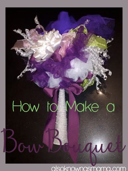 How to Make a Bow Bouquet | Bridesmaid Maid of Honor DIY Project | Wedding Rehearsal Flowers | Bride-to-Be DIY Keepsake Gift