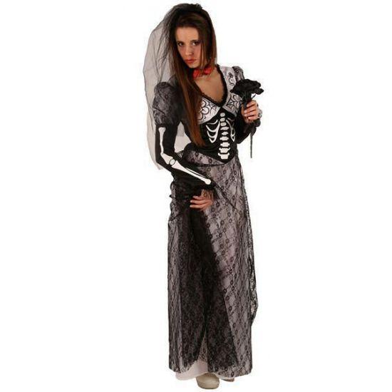 Halloween kostuum zwarte bruid