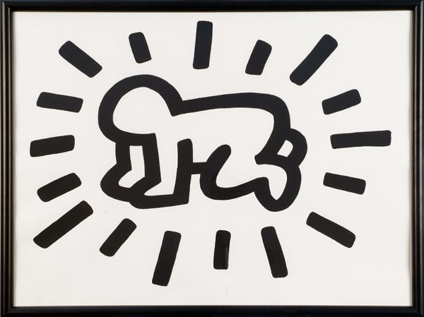 Radiant Baby by Keith Haring #Illustration #Radiant_Baby #Keith_Haring