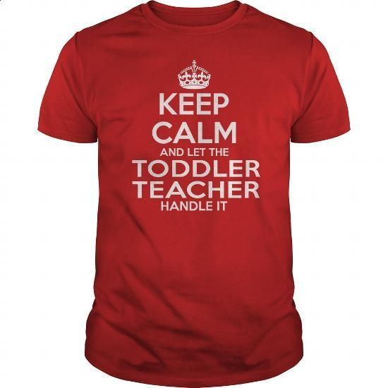 TODDLER TEACHER - #funny graphic tees #funny tees. I WANT THIS => https://www.sunfrog.com/LifeStyle/TODDLER-TEACHER-114674830-Red-Guys.html?60505