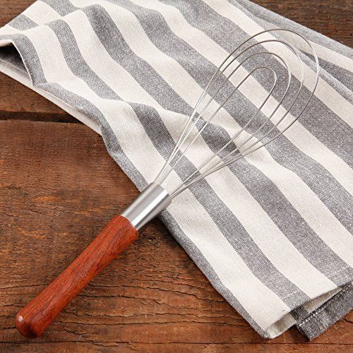Flat metal whisk;Hand wash only;Materials: stainless steel Cowboy Rustic Rosewood Handle Flat Metal Whisk Red , Brown
