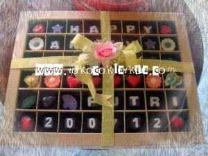 Hadiah Anniversary Untuk Pacar|Coklat Praline Gift | Toko Coklat Kita