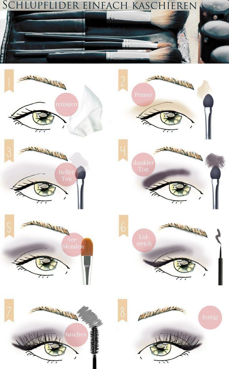 Make Up tutorial: Schlupflider kaschieren – Augen größer schminken #augen #k… – Fabric Crafts