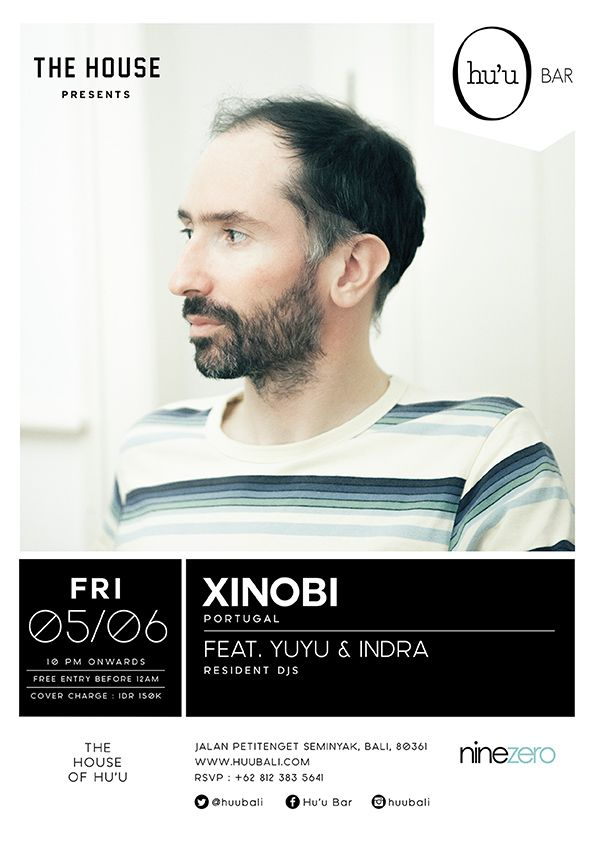 #huubar #housemusic #xinobi  #party #typography #graphicdesign #flyer #dj