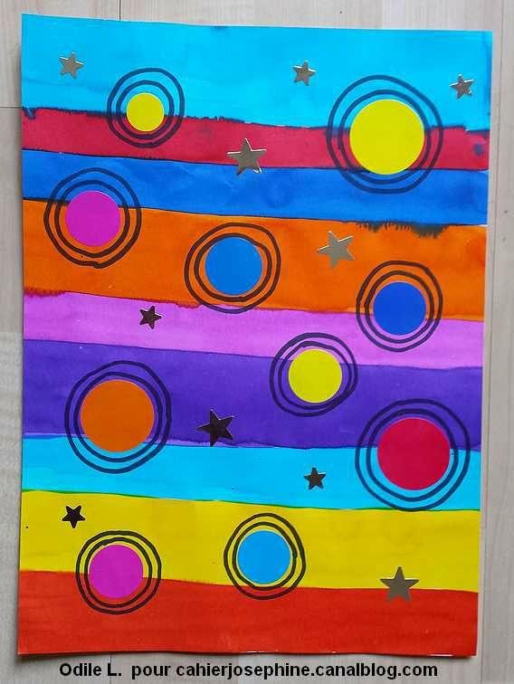 des lignes, des ronds et beaucoup de couleurs