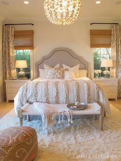 Image result for vintage room with bed between windows