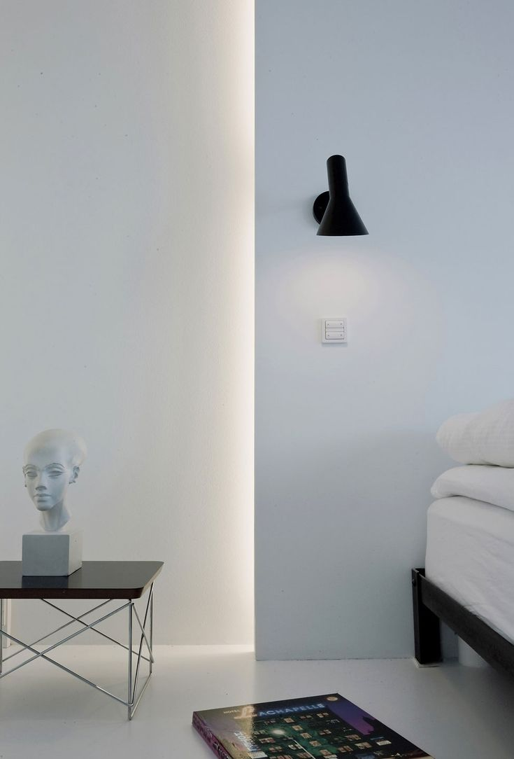 Beautiful lighting detail inside the Penthouse II in Copenhagen by Norm Architects.