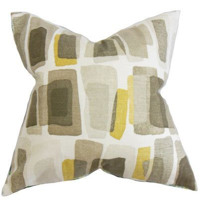 The Pillow Collection Ulla Geometric Bedding Sham Size: Queen