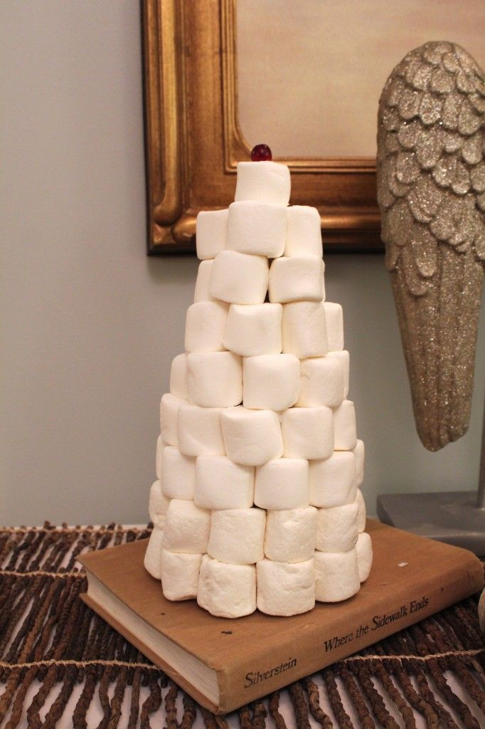 DIY marshmallow christmas tree www.simplestylings.com