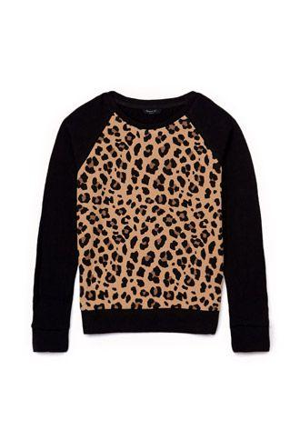 Leopard Print Sweatshirt (Kids) | FOREVER21 girls - 2000075078 YES totally co-ed for boys too!