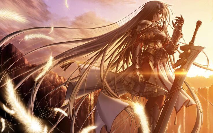 anime girls belts feathers - photo #25