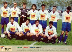 Hajduk Split of Yugoslavia team group in 1995-96.