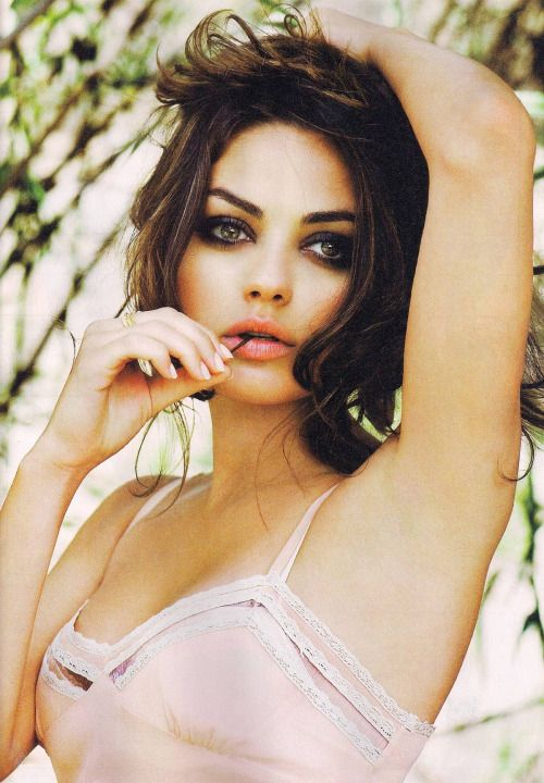 Mila Kunis: Hair Color/texture and Eye Makeup INSP. (With fuller natural brows)