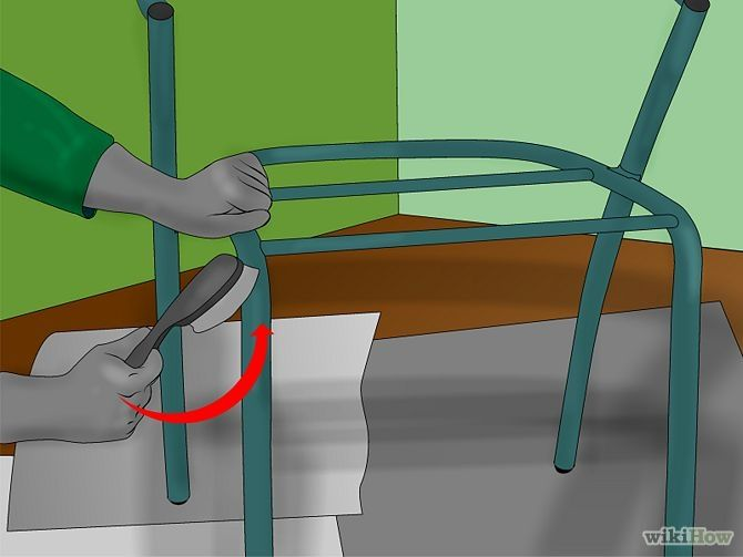 Refinish Metal Patio Furniture Step - wiki how