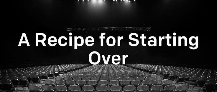 "A recap of Brad Cooper's sermon, ""A Recipe for Starting Over,"" in 140 characters or less.   	Your past doesn't define you. #StartOver 	How are you going to make sure the next time is not like the last time? #StartOver 	You"