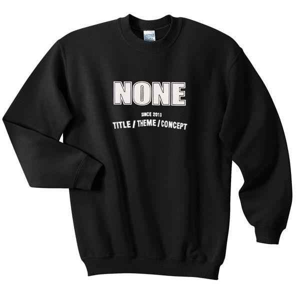 none since 2013 title-theme-concep tshirt