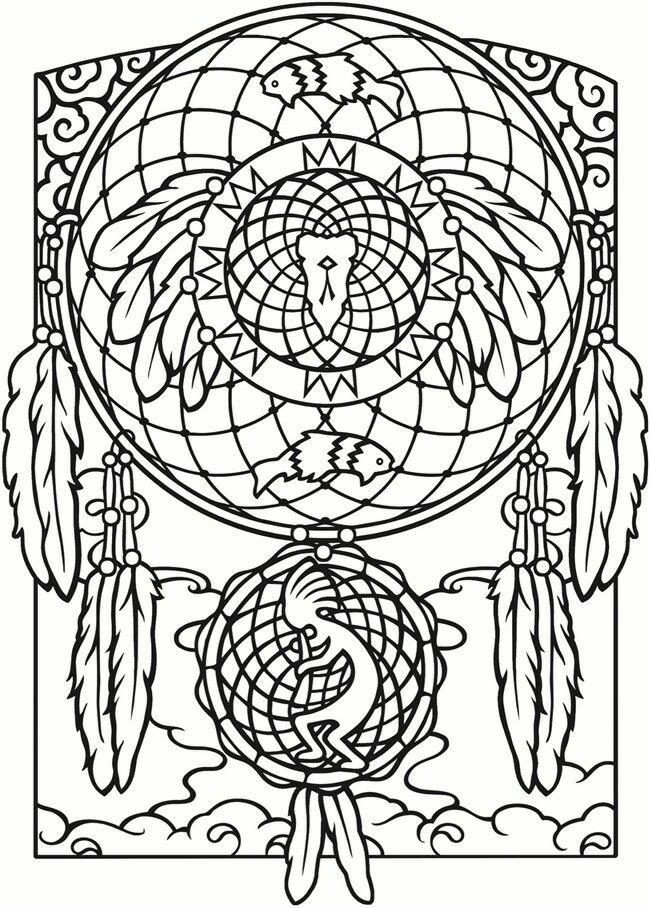 118 best Dreamcatcher Coloring Page images on Pinterest | Coloring ...